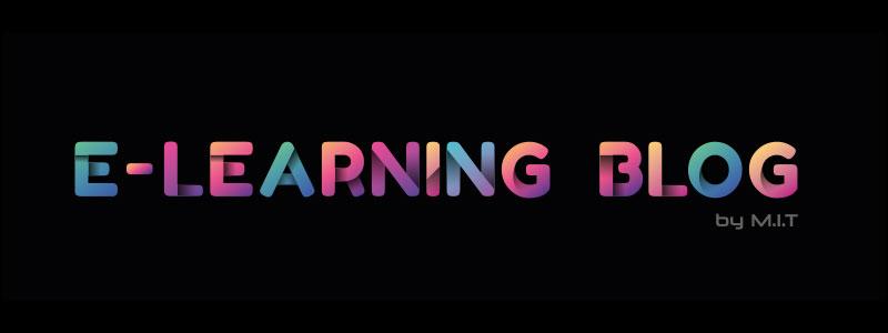 Herzlich Willkommen auf dem E-LEARNING BLOG by M.I.T. Sie sehen unser Logo in bunten Buchstaben .
