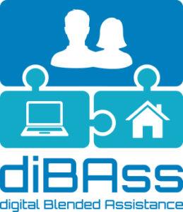 Sie sehen das Logo des Projektes diBAss. In diesem Projekt geht es um die Unterstützung von Menschen mit kognitiven Einschränkungen durch digitale Assistenzsysteme.