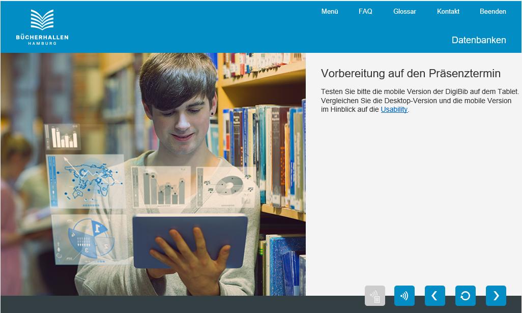 Sie sehen einen Screen aus dem Projekt mit den Bücherhallen Hamburg.